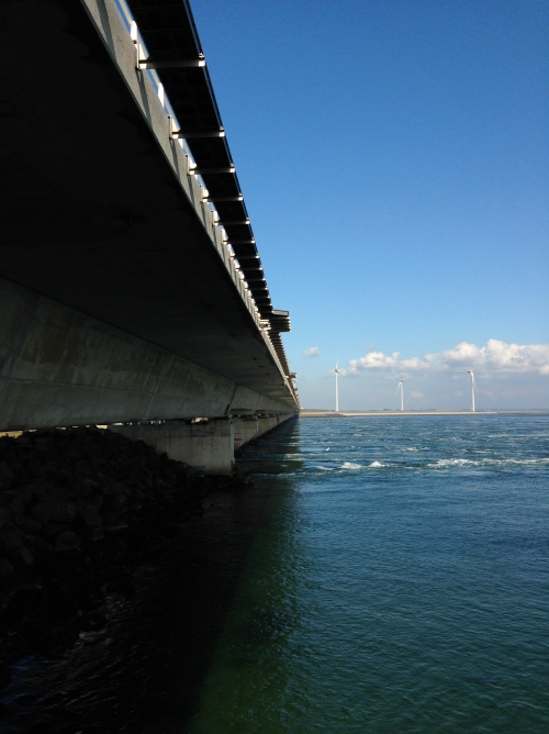 Under the barrage at Neeltje Jans (view north).