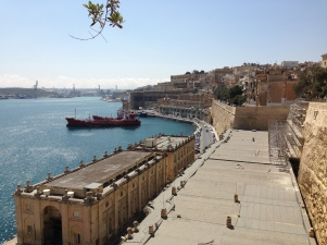Valetta's old port, from the fortified walls.