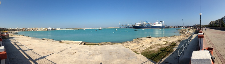 Malta Freeport, from Pretty Bay.
