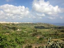 Xaghra, above Rahmla Bay, Gozo.