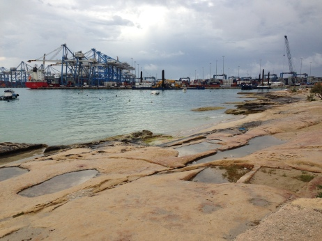 Once you start seeing salt pans, you see them everywhere – even at the freeport.