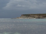 Low-angle light across St. Thomas Bay, at the south end of Malta.