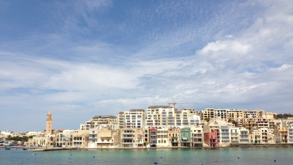 Lots of construction on the north side of Marsaskala...
