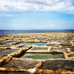 Salt pans at Xwejni Bay, Gozo.
