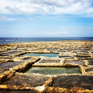 Salt pans at Xwejni Bay, Gozo.