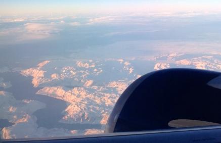 Glacial ice entering the Labrador Sea. (Southern Greenland, west coast.)