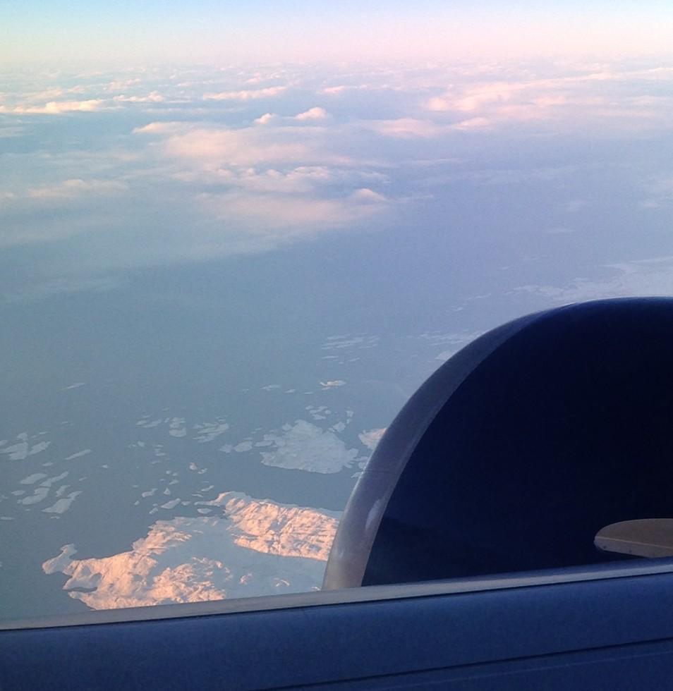 Fresh, nearshore icebergs – approaching the Labrador Sea.