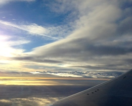 Spectacular clouds as we near Minnesota airspace.