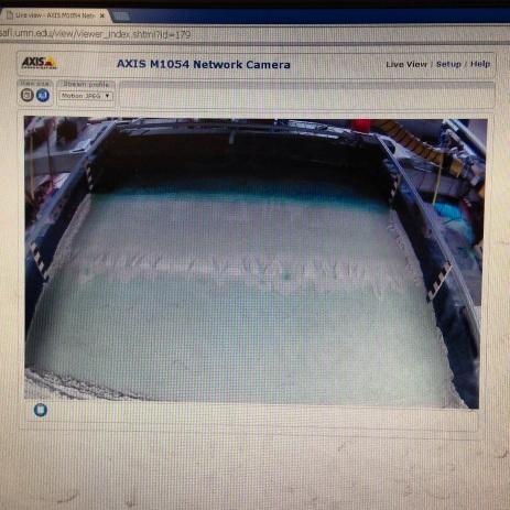 Chris Ellis set up a webcam!